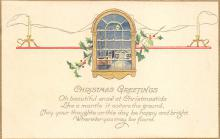 xms000717 - Christmas Post Card Old Vintage Antique Xmas Postcard