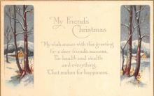 xms000719 - Christmas Post Card Old Vintage Antique Xmas Postcard