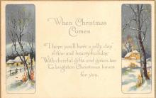 xms000723 - Christmas Post Card Old Vintage Antique Xmas Postcard