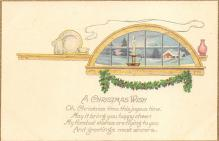xms000725 - Christmas Post Card Old Vintage Antique Xmas Postcard