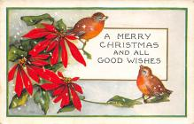 xms000727 - Christmas Post Card Old Vintage Antique Xmas Postcard