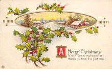xms000729 - Christmas Post Card Old Vintage Antique Xmas Postcard