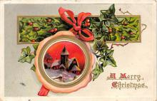 xms000731 - Christmas Post Card Old Vintage Antique Xmas Postcard