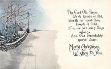 xms000733 - Christmas Post Card Old Vintage Antique Xmas Postcard