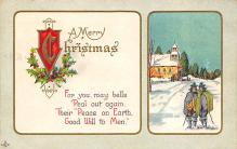 xms000737 - Christmas Post Card Old Vintage Antique Xmas Postcard