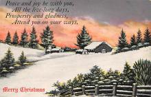 xms000739 - Christmas Post Card Old Vintage Antique Xmas Postcard
