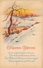 xms000749 - Christmas Post Card Old Vintage Antique Xmas Postcard