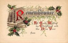 xms000751 - Christmas Post Card Old Vintage Antique Xmas Postcard