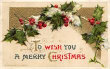 xms000753 - Christmas Post Card Old Vintage Antique Xmas Postcard