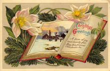 xms000757 - Christmas Post Card Old Vintage Antique Xmas Postcard