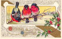 xms000775 - Christmas Post Card Old Vintage Antique Xmas Postcard
