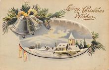 xms000783 - Christmas Post Card Old Vintage Antique Xmas Postcard