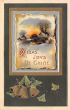 xms000787 - Christmas Post Card Old Vintage Antique Xmas Postcard