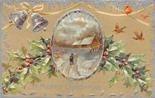 xms000789 - Christmas Post Card Old Vintage Antique Xmas Postcard