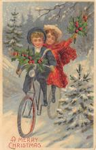 xms000793 - Christmas Post Card Old Vintage Antique Xmas Postcard