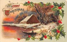 xms000799 - Christmas Post Card Old Vintage Antique Xmas Postcard