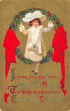 xms000801 - Christmas Post Card Old Vintage Antique Xmas Postcard