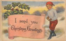 xms000807 - Christmas Post Card Old Vintage Antique Xmas Postcard