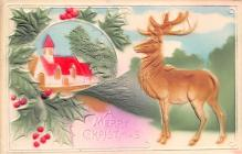xms000815 - Christmas Post Card Old Vintage Antique Xmas Postcard