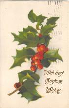 xms000817 - Christmas Post Card Old Vintage Antique Xmas Postcard