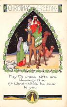 xms000827 - Christmas Post Card Old Vintage Antique Xmas Postcard