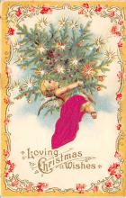 xms000829 - Christmas Post Card Old Vintage Antique Xmas Postcard