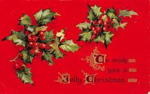 xms000837 - Christmas Post Card Old Vintage Antique Xmas Postcard