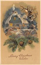 xms000843 - Christmas Post Card Old Vintage Antique Xmas Postcard