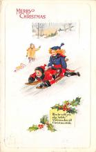 xms000845 - Christmas Post Card Old Vintage Antique Xmas Postcard