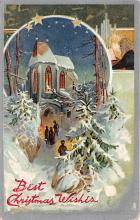 xms000847 - Christmas Post Card Old Vintage Antique Xmas Postcard