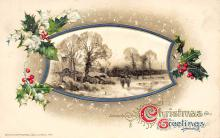 xms000855 - Christmas Post Card Old Vintage Antique Xmas Postcard