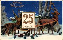 xms000857 - Christmas Post Card Old Vintage Antique Xmas Postcard