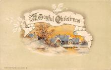 xms000861 - Christmas Post Card Old Vintage Antique Xmas Postcard