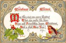 xms000863 - Christmas Post Card Old Vintage Antique Xmas Postcard