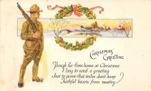 xms000869 - Christmas Post Card Old Vintage Antique Xmas Postcard
