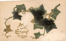 xms000871 - Christmas Post Card Old Vintage Antique Xmas Postcard