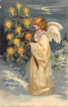 xms000875 - Christmas Post Card Old Vintage Antique Xmas Postcard