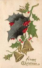 xms000881 - Christmas Post Card Old Vintage Antique Xmas Postcard