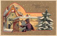 xms000887 - Christmas Post Card Old Vintage Antique Xmas Postcard