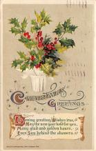 xms000893 - Christmas Post Card Old Vintage Antique Xmas Postcard