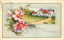 xms000915 - Christmas Post Card Old Vintage Antique Xmas Postcard