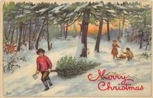 xms000917 - Christmas Post Card Old Vintage Antique Xmas Postcard