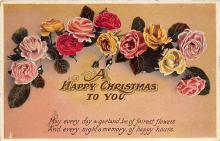 xms000919 - Christmas Post Card Old Vintage Antique Xmas Postcard