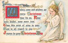 xms000929 - Christmas Post Card Old Vintage Antique Xmas Postcard