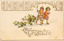 xms000931 - Christmas Post Card Old Vintage Antique Xmas Postcard