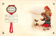 xms000935 - Christmas Post Card Old Vintage Antique Xmas Postcard