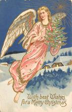 xms000945 - Christmas Post Card Old Vintage Antique Xmas Postcard