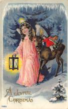xms000947 - Christmas Post Card Old Vintage Antique Xmas Postcard
