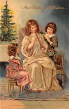 xms000949 - Christmas Post Card Old Vintage Antique Xmas Postcard