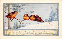 xms000953 - Christmas Post Card Old Vintage Antique Xmas Postcard